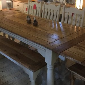 Mango Painted Extending Dining Table