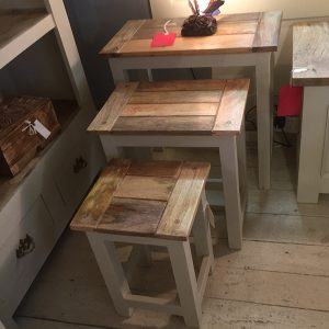 Mango Painted Nest of 3 Tables